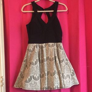 Dresses & Skirts - Macy's Dress, black top and white skirt